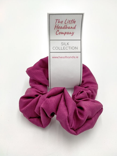 Deep Rose Silk Scrunchie