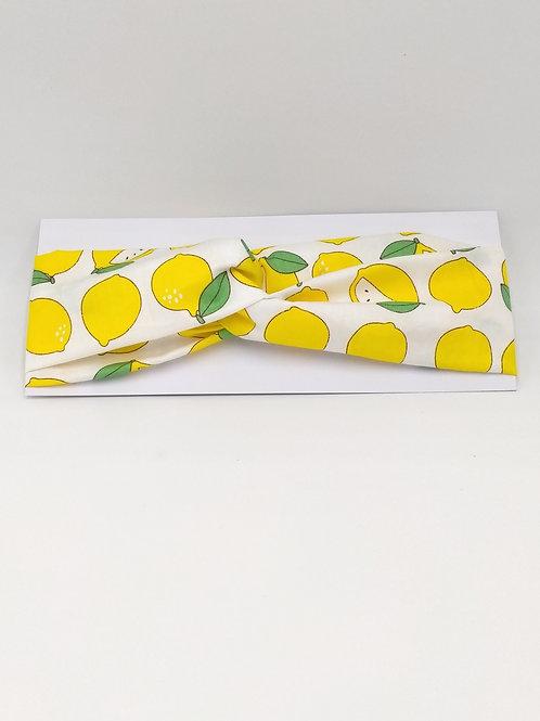 'Lemons' Twisted Knot Headwrap