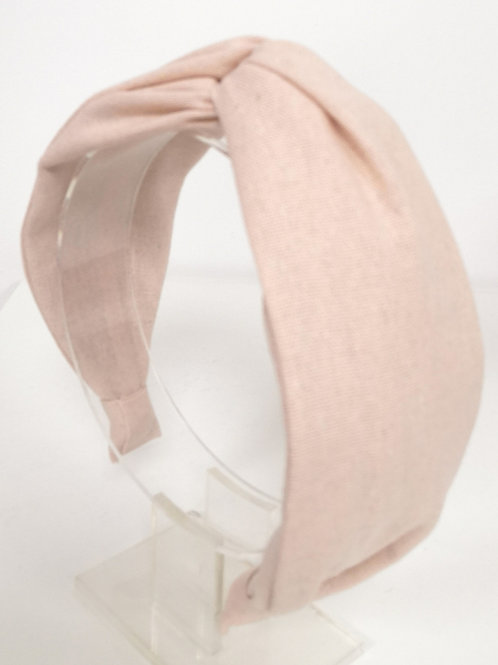 Knotted Peach Pink Cotton Headband