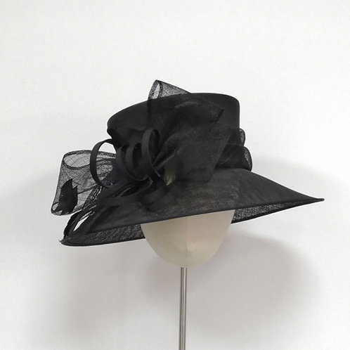 Black Hat Medium Brim