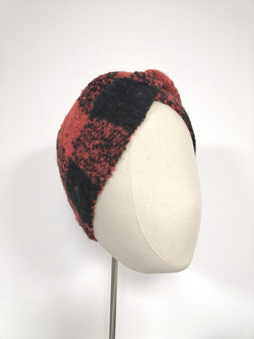 Marbled Red Black Headwrap