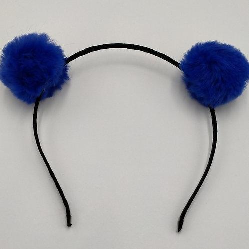 Pom Pom Royal Blue Headbands