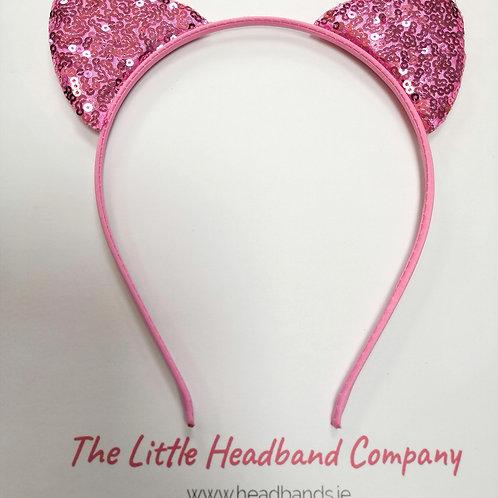 Glittery Cat Ears- Pink