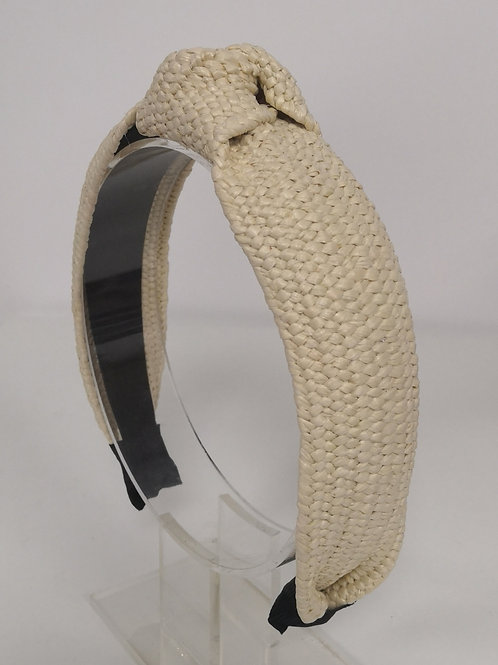 Raffia Cream Headband