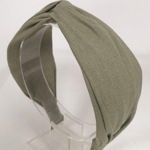 Knotted Khaki Cotton Headband