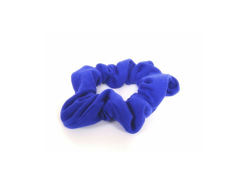 Royal Blue Organic Cotton Scrunchie