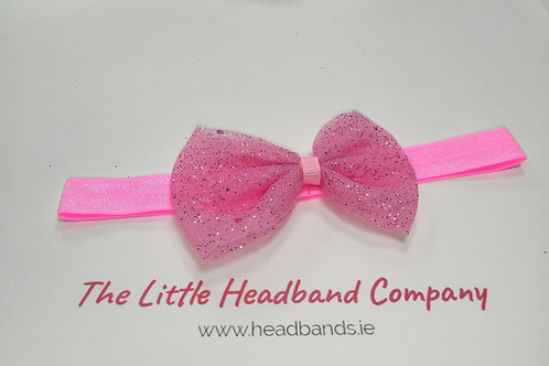 Childs Glittery Bow Soft Bandeau