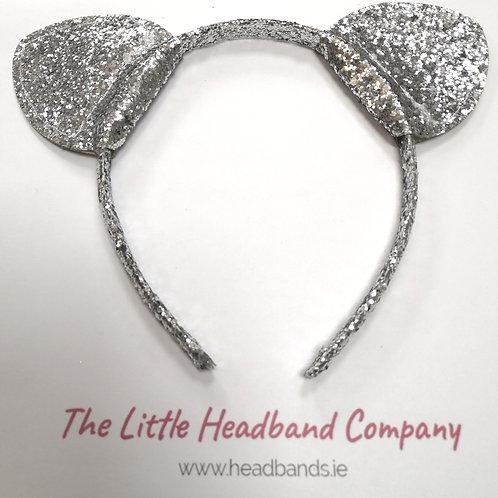Glitter Silver Headband