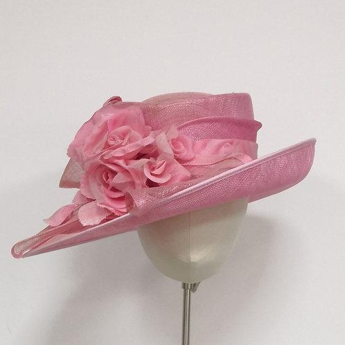 Pink upbrimmed hat