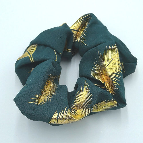 Blue Gold Feather