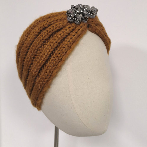 Warm Golden Knotted Headwrap
