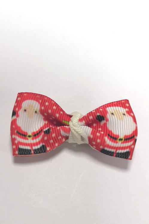 Santa Claus Bow Alligator Clip
