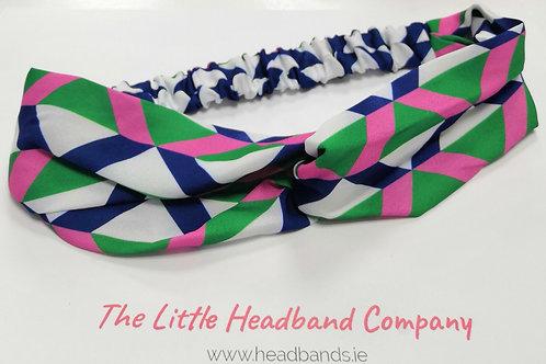 Geo Print Twisted Headband