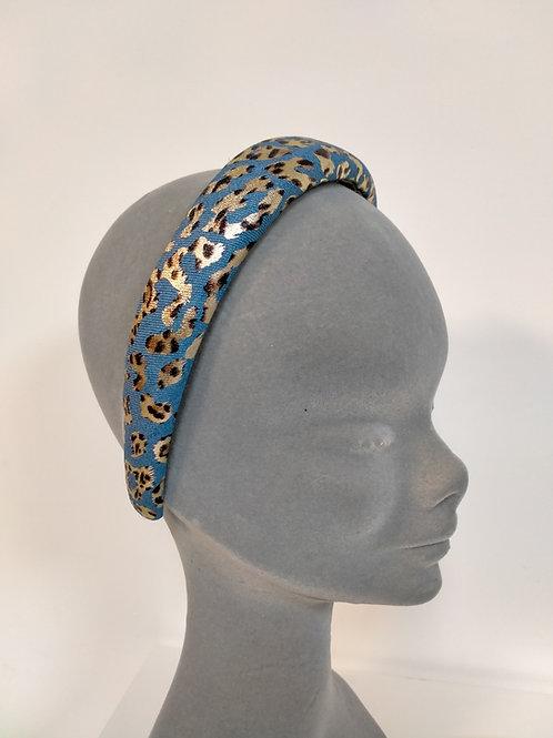 Leopard Print Blue Headband