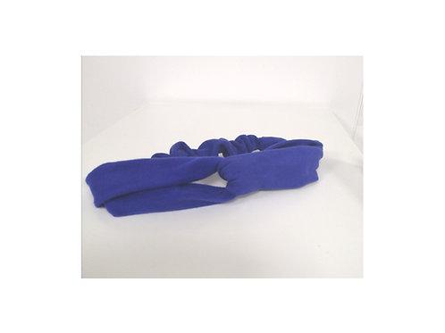 Twist Turban Headband Royal Blue Organic Cotton