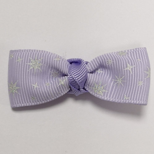 Glittery Lilac Bow Alligator Clip
