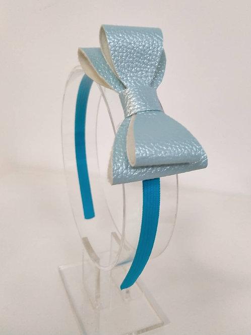 Ellie Blue Double Bow Headband