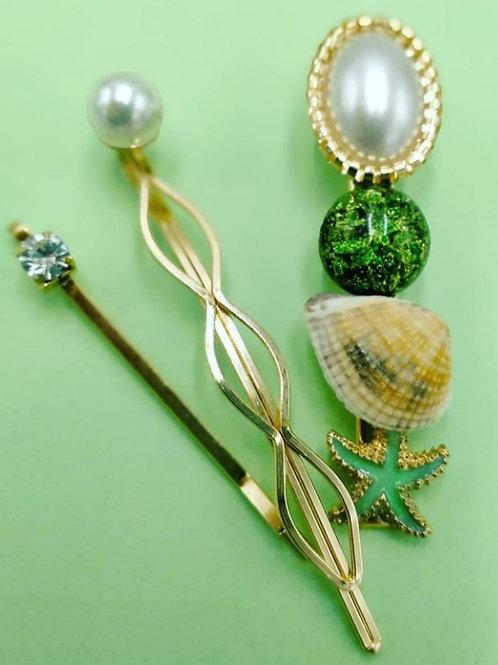Sparkling Seashore Trio Green