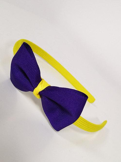 Big Navy Bow Headband