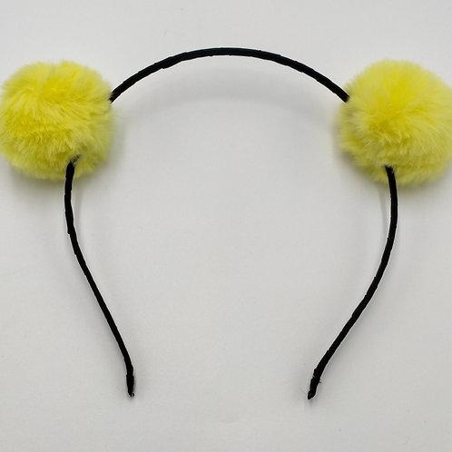 Pom Pom Yellow Headband