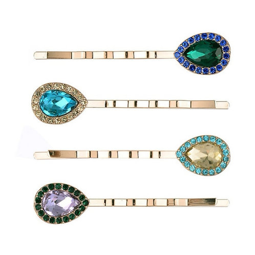 Diamante Vintage Inspired Clips