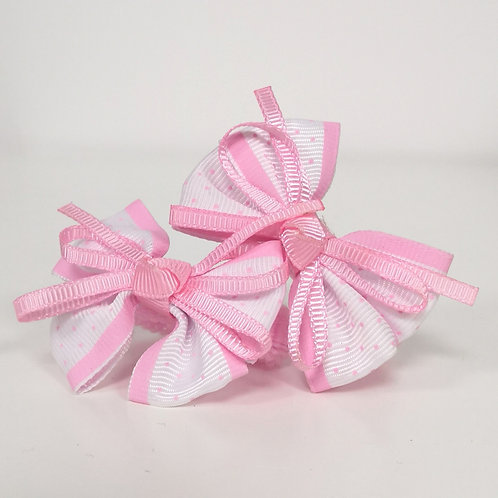 Pink & White Bow Bobbles