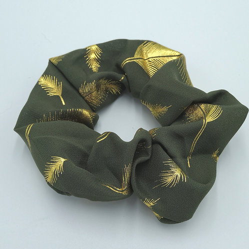 Olive Gold Feather