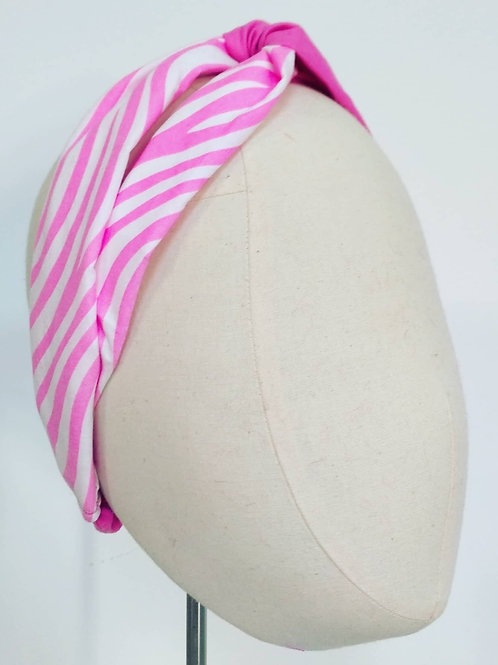 Candy Stripe Cotton Twisted Knot Headwrap