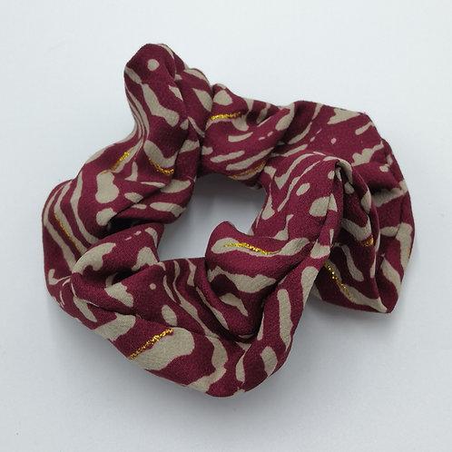 Raspberry Red Tiger Stripes Scrunchie