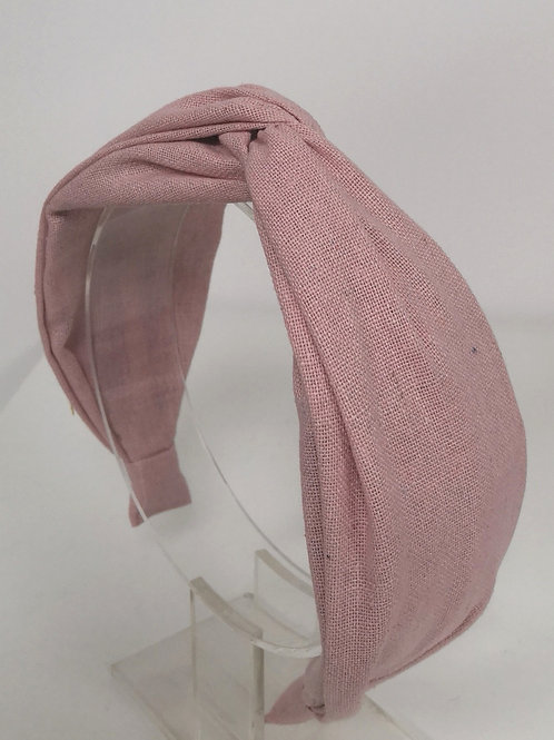 Knotted Pink Cotton Headband