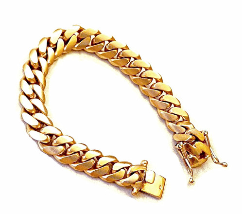 This 10k Solid Gold Miami Cuban Link Bracelet Is A Super Heavy Measured At 10mm Wide And 8 5 Inches Long Weighs 85 Grams