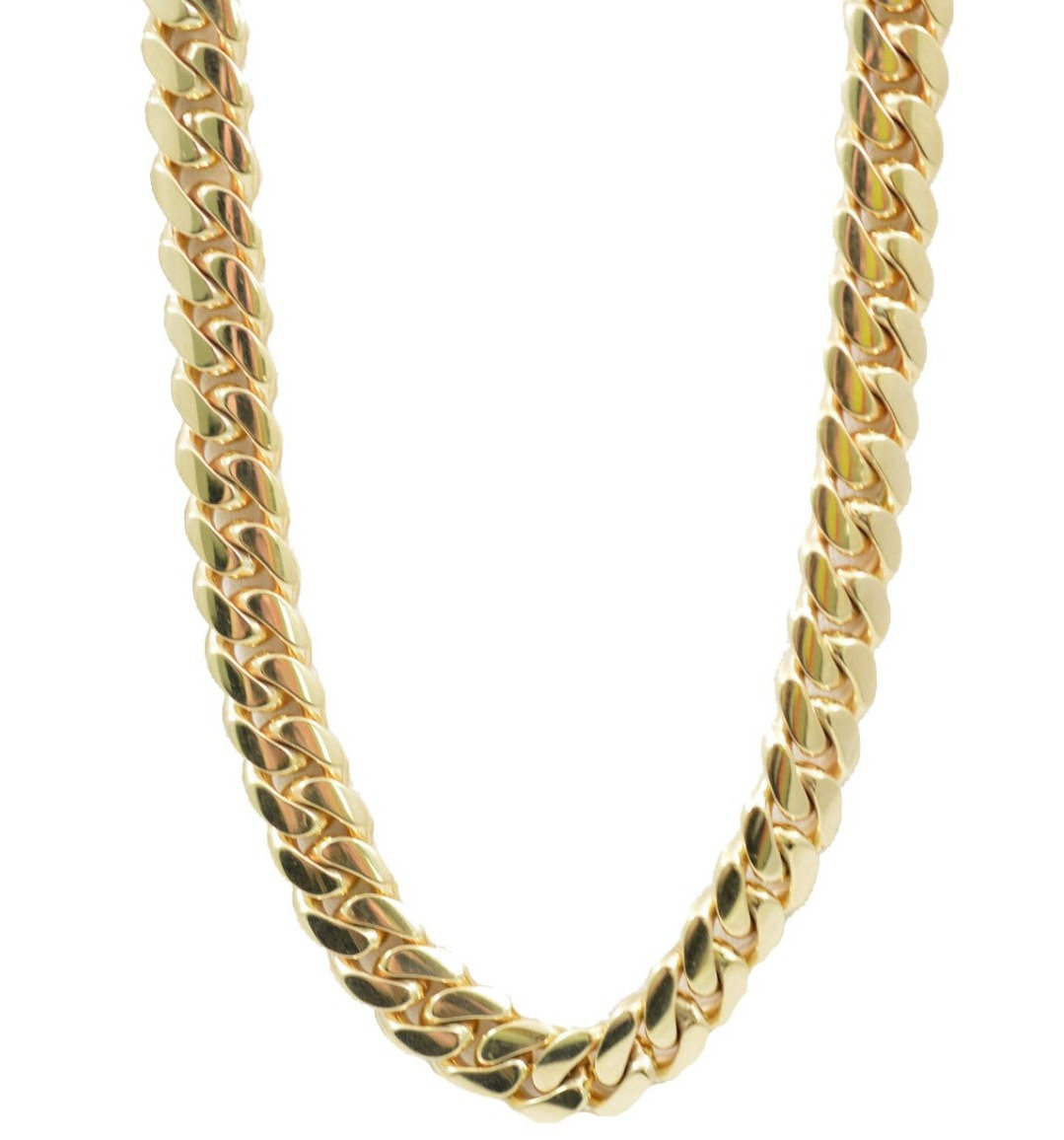 Cuban Link Chain For Sale >> 14k Solid Gold Miami Cuban Link Chain 9mm 136 Grams 22in