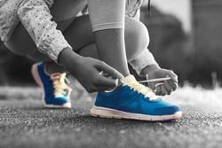 running-shoes zwart wit