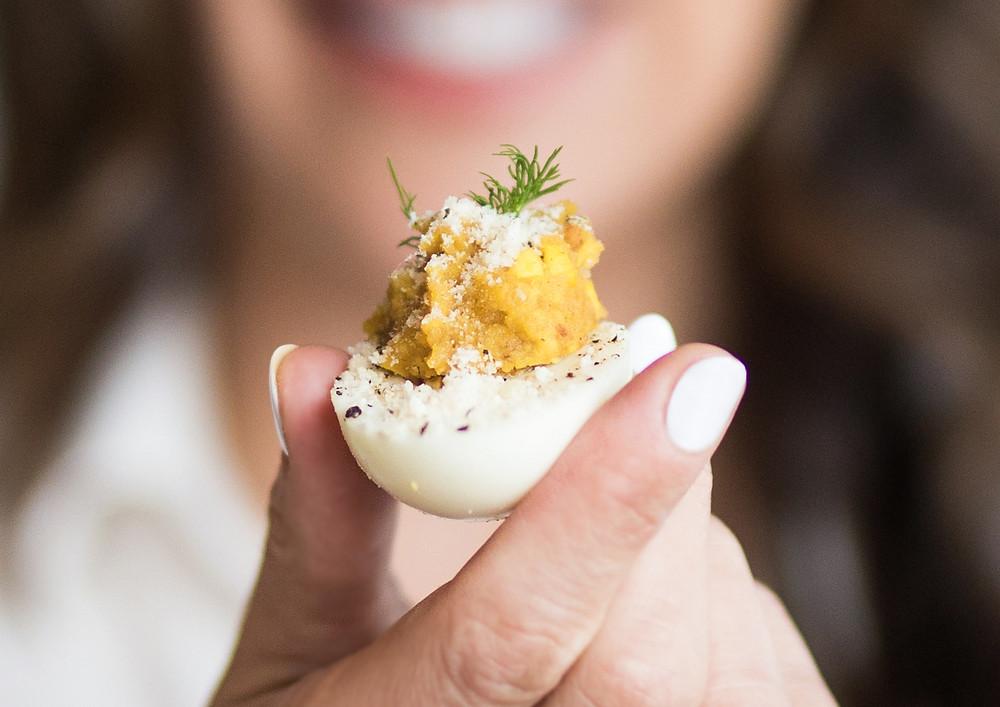 Carbonara Deviled Egg