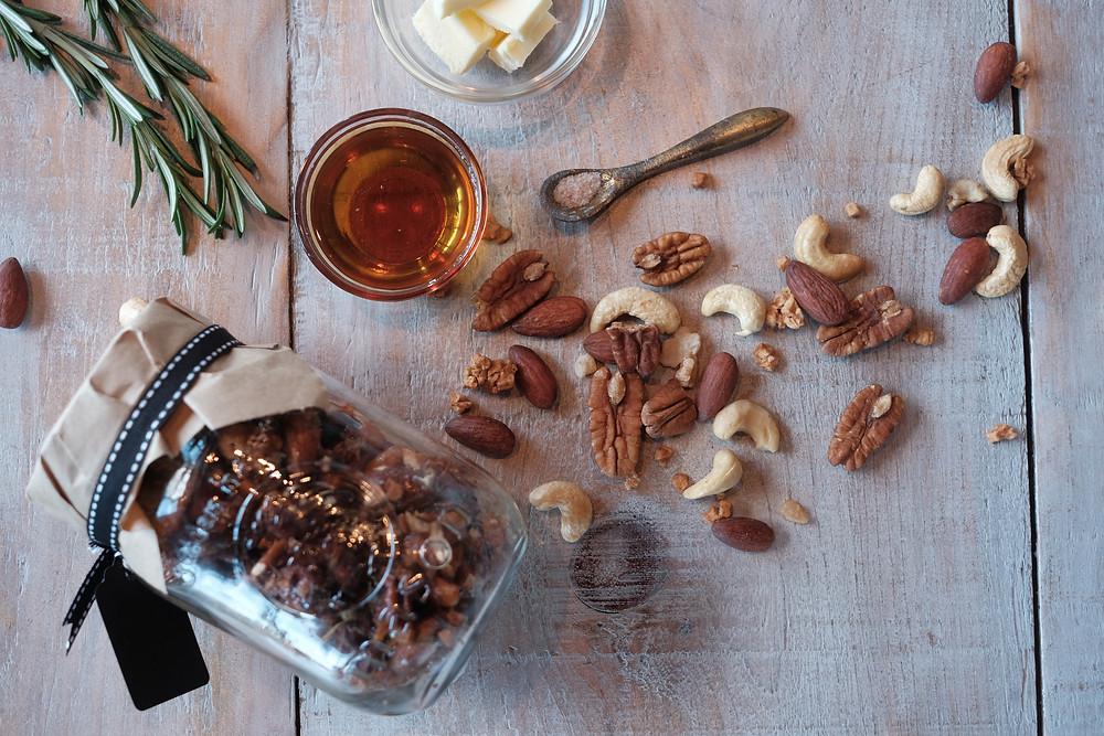 Maple Rosemary Nuts