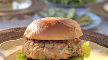 Stonewall Kitchen Horseradish Aioli Salmon Burger