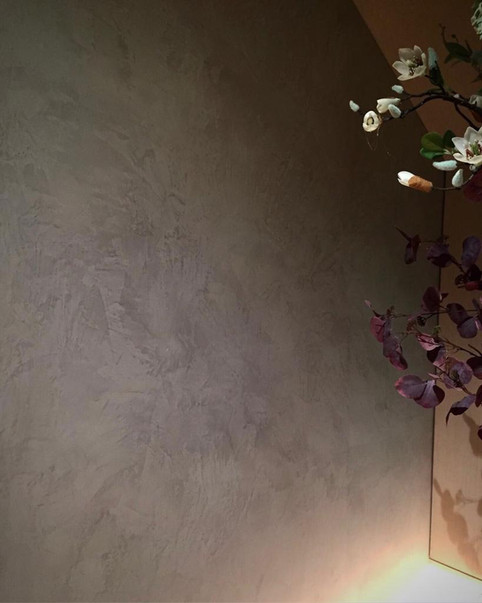 Grey tone matt venetian plaster