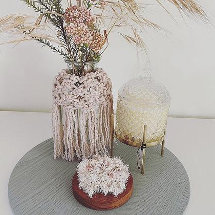 Macrame Vase Wrap Blush