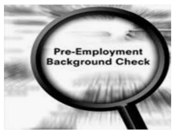 Pre Employment Background Chec
