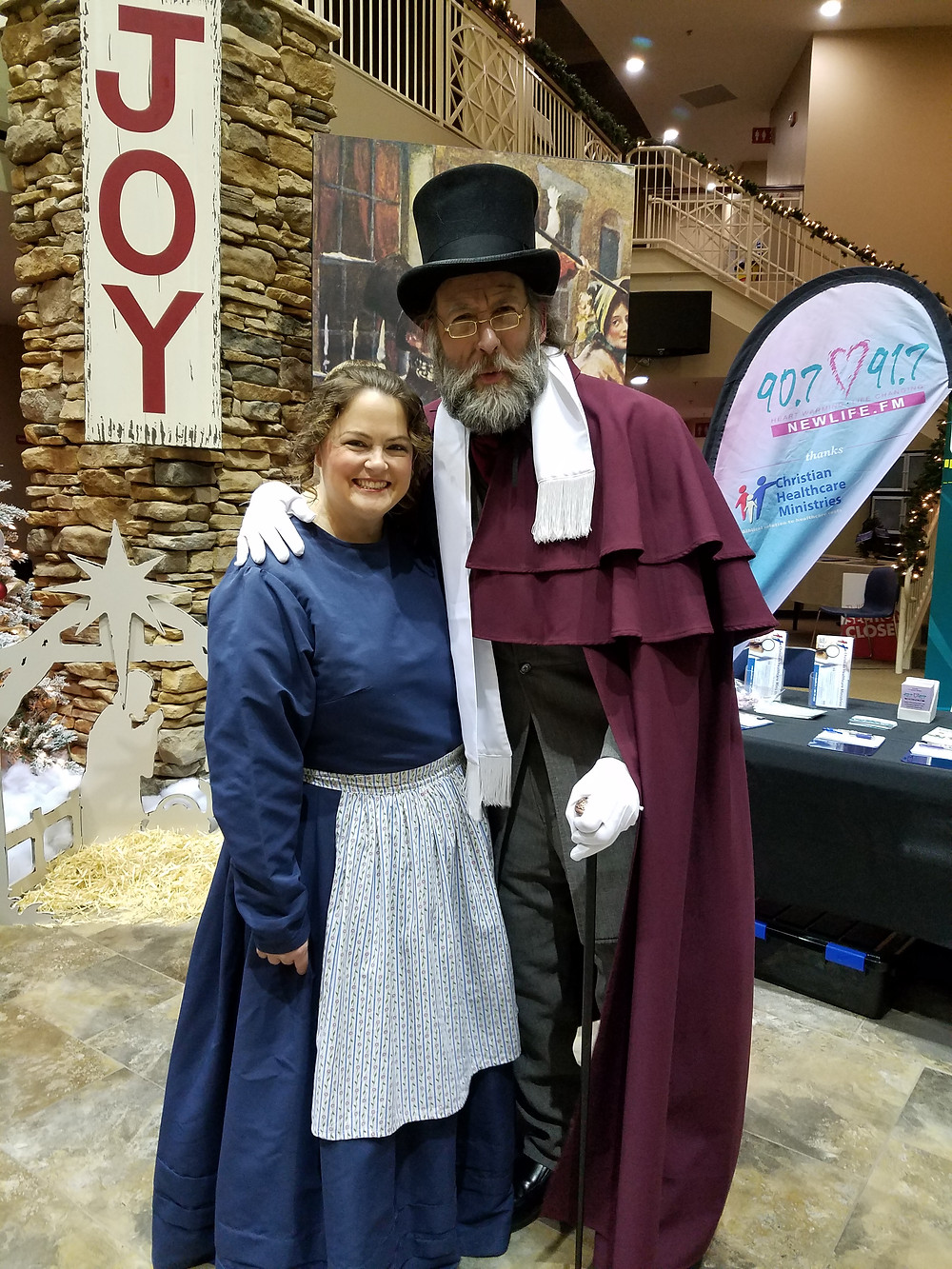 Me and Scrooge after a showing of A Christmas Carol