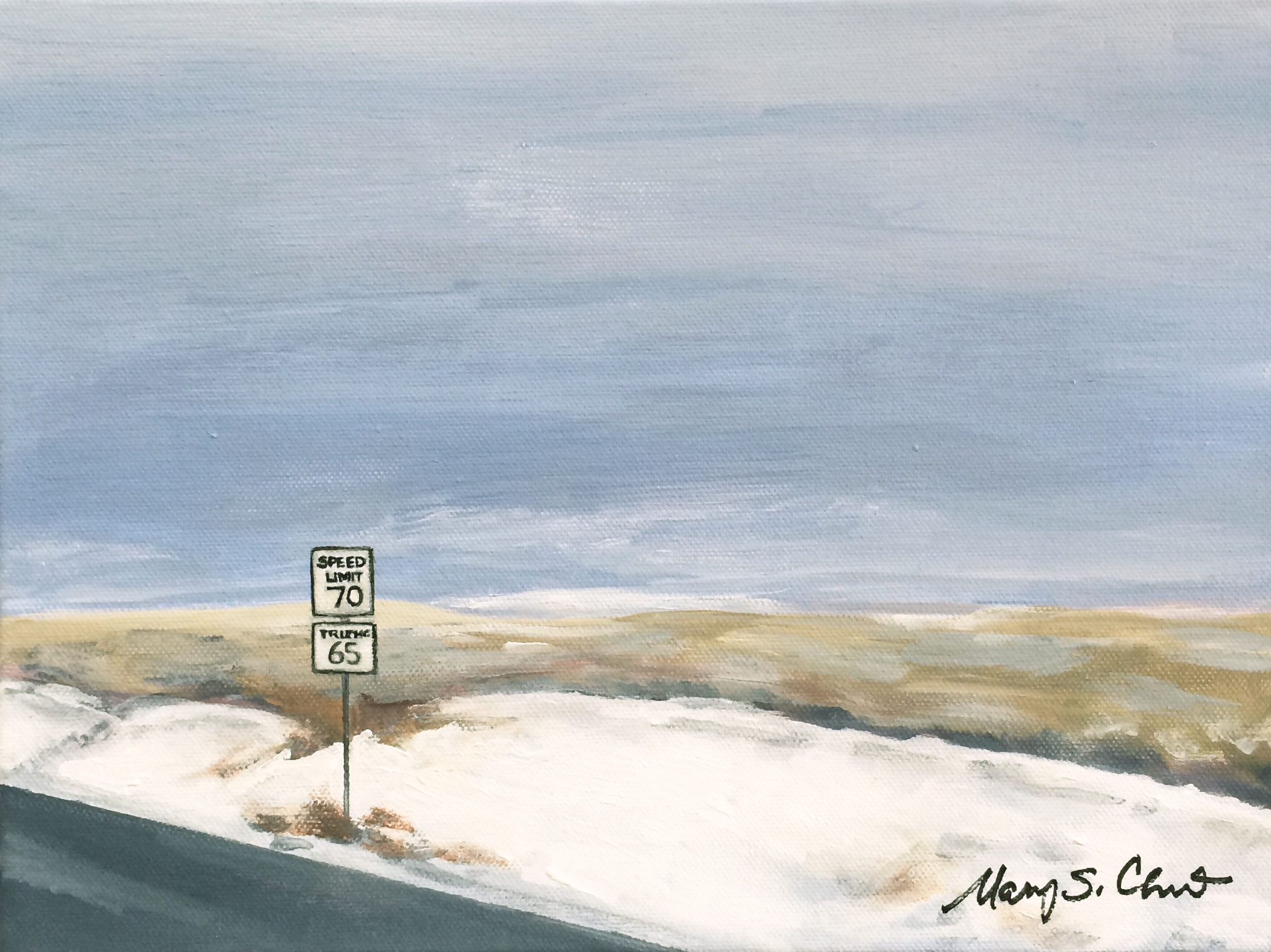High Desert with Snow