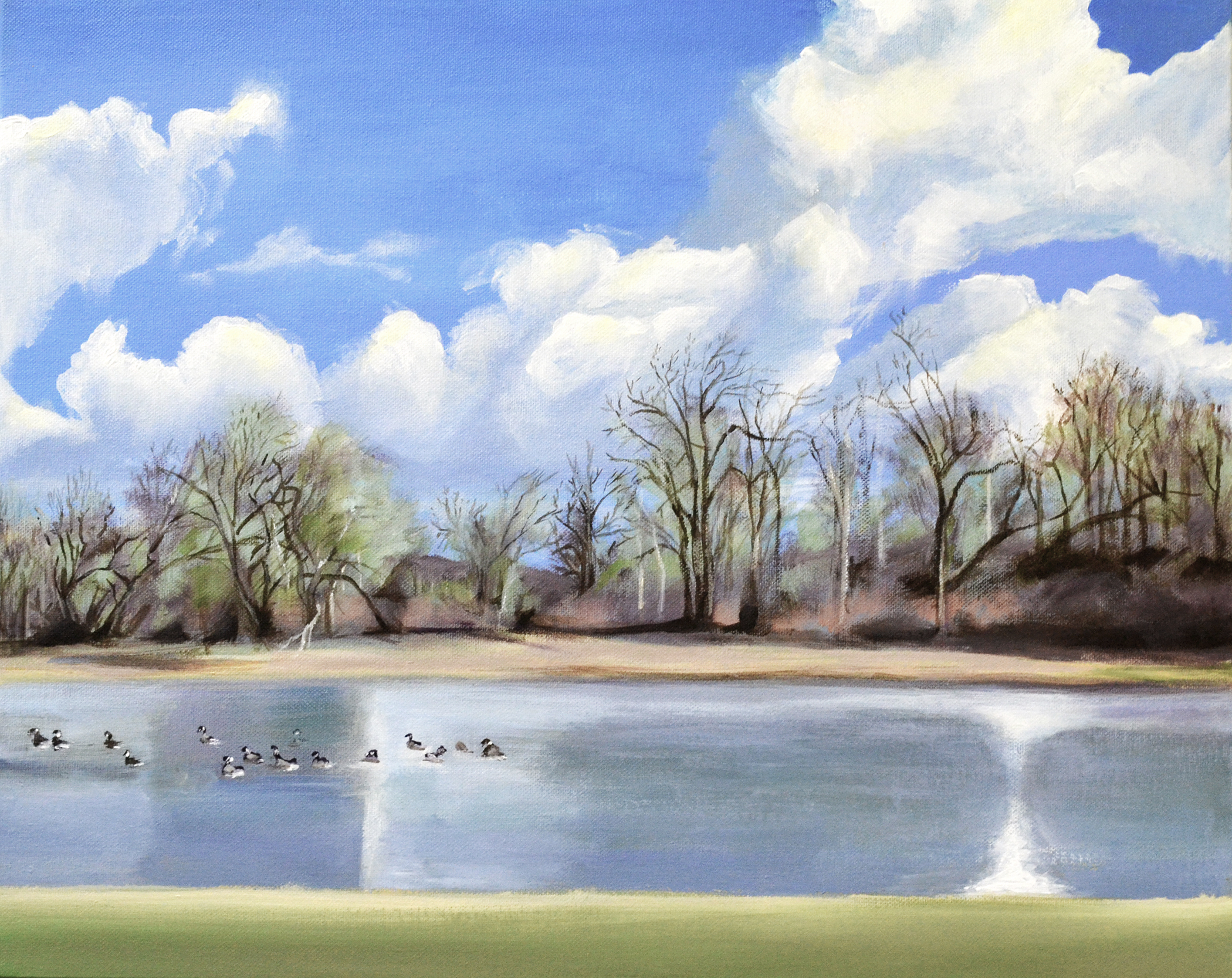 Watering Hole with Geese