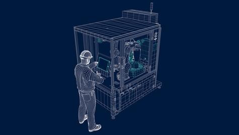 Machine 2 - Vue filaire