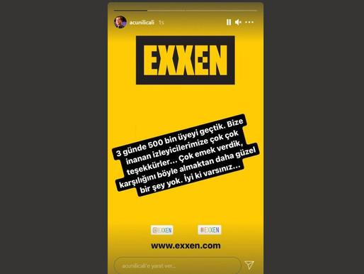 Acun Ilıcalı, Exxen'in İlk 3 Gününde Ulaştığı Abone Sayısını Açıkladı