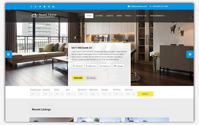 SweetHome - WordPress Emlak Teması