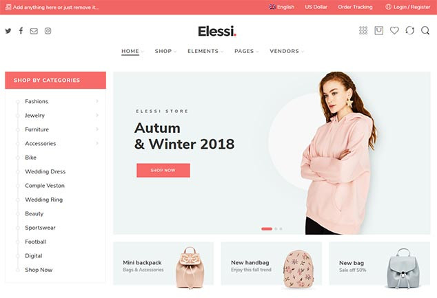 Elessi - WordPress ETicaret Teması
