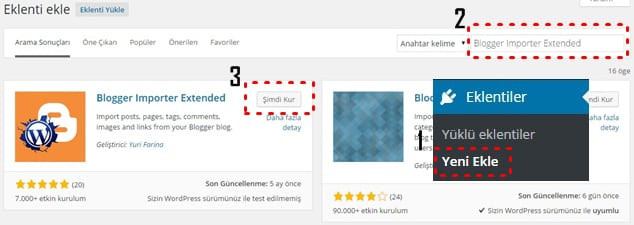 Blogger importer extented kurulumu - Blogger WordPress'e taşıma