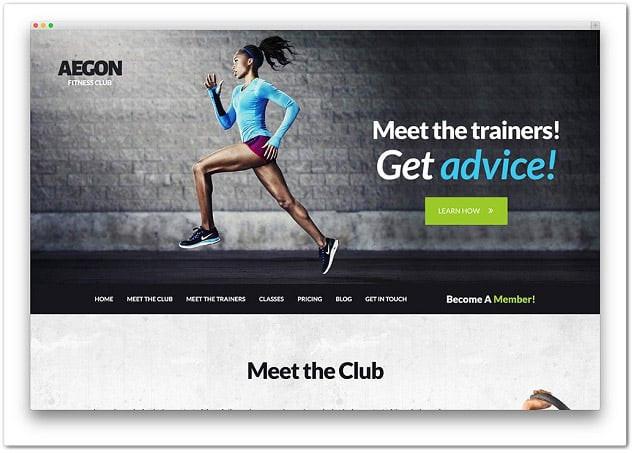Wordpress fitness teması - wordpress spor salonu teması