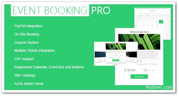 Wordpress Etkinlik Eklentisi - WordPress Etkinlik Eklentileri - Event Booking Pro