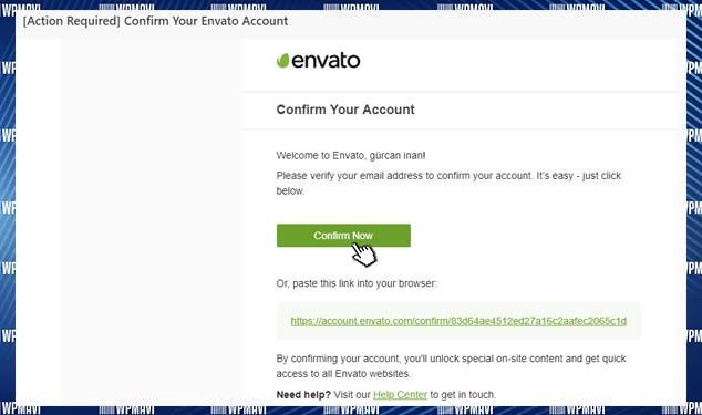 Themeforest Üyelik E-Posta Onayı